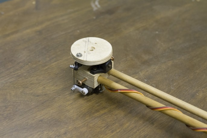 Tricopter rear motor mount